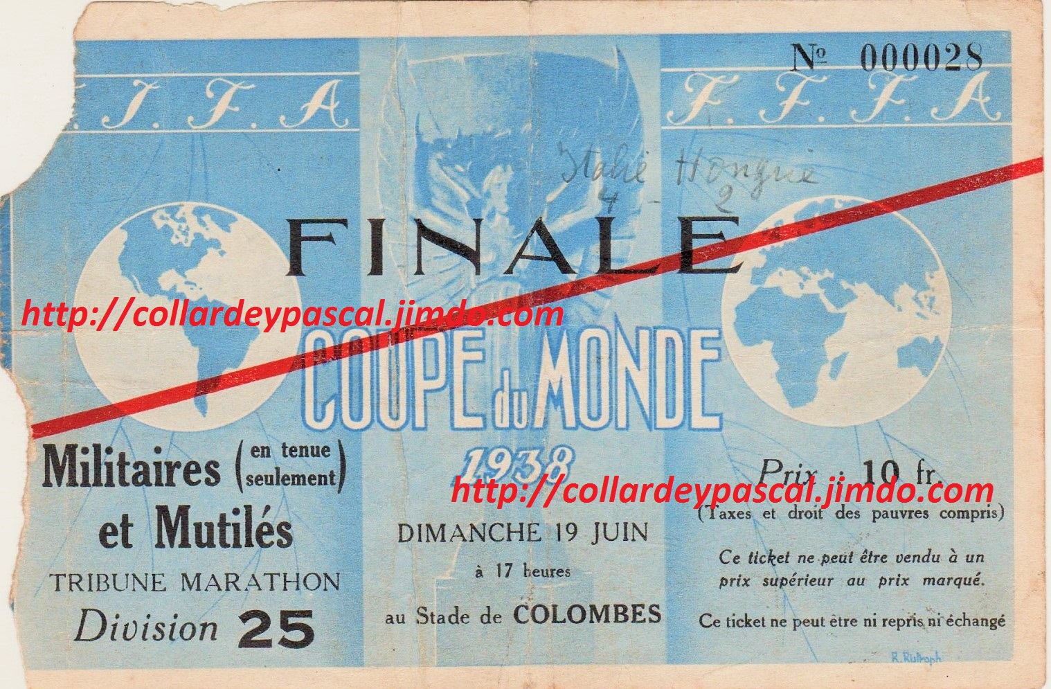 Italie - Hongrie Finale (France 1938)