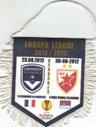 """Tirage """"Privé"""" Bordeaux - Etoile Rouge belgrade 2012/13"""