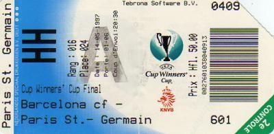 1997 à Rotterdam : FC Barcelone - Paris SG  1 - 0