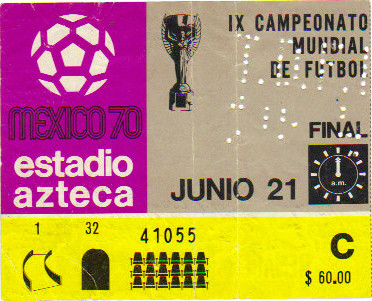 Finale Coupe du Monde 1970 : Brésil - Italie (Mexique)