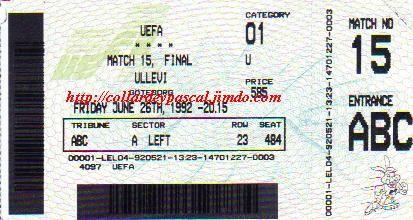 Euro 1992 :  Danemark  2 - 0  Allemagne  (Finale)