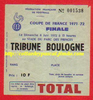 1972: Ol. Marseille bat SEC Bastia  2 - 1