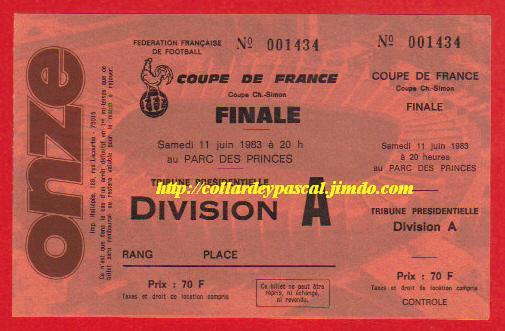 1983 : Paris SG bat FC Nantes 3 - 2