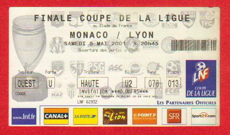 Finale 2001 Olympique Lyonnais 2 - 1 AS Monaco
