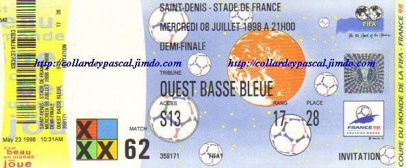 France  - Croatie 1/2 Finale (France 1998)
