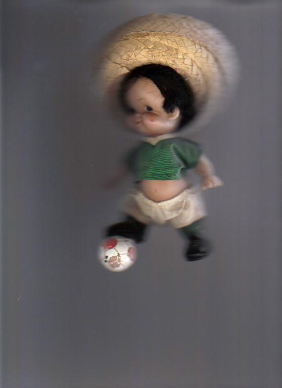 Très rare Mascotte Mexico 1970 fabrication locale et artisanale