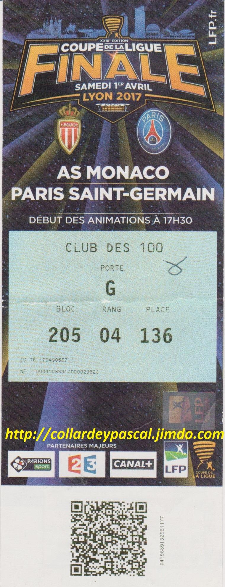 Finale 2017 Paris SG 4 - 1 AS Monaco (@ Lyon)