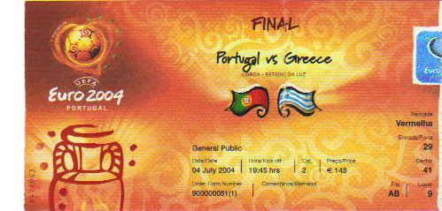 Finale Grèce - Portugal Euro 2004