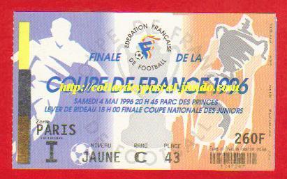 1996 : AJ Auxerre bat Nîmes Ol.  1 - 0
