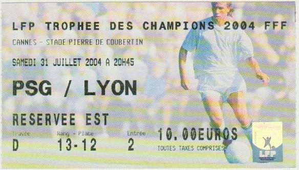 2004 à Cannes : Ol. Lyonnais bat Paris SG 1 - 1 (7.6 tab)