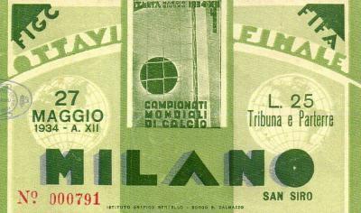 1/8 de Finale Suisse - Pays-Bas (Italie 1934)
