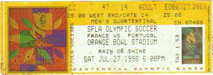 1996 Atlanta : 1/4 Finale France - Portugal