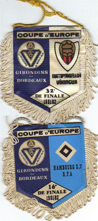 """1er fanions européens """"Commerciaux"""" 1981/82"""