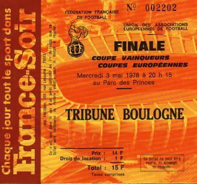 1978 à Paris :  RSC Anderlecht - Rapid Vienne  4 - 0