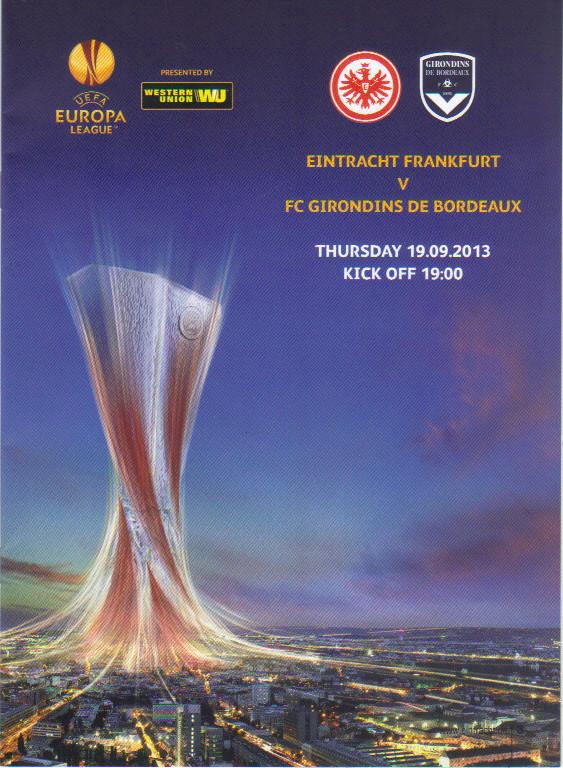 Eintracht Francfort - Girondins Ligue Europa 2013/14