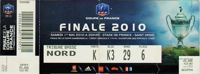 2010 : Paris SG bat AS Monaco 1 - 0