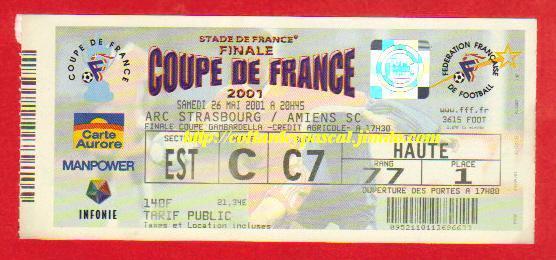 2001 : RC Strasbourg - SC Amiens 0 - 0 tab