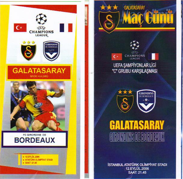 FC Galatasaray - Girondins (Programmes Pirates)