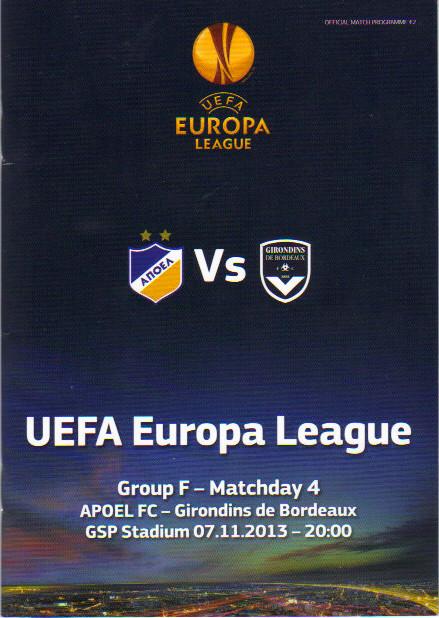 Apoel Nicosie - Girondins Ligue Europa 2013/14