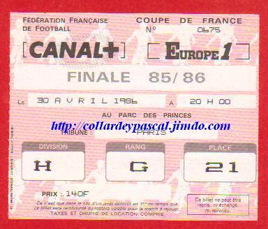 1986: G. Bordeaux bat Ol. Marseille 2 - 1