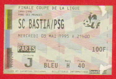 Finale 1995 Paris SG 2 - 0 SC Bastia