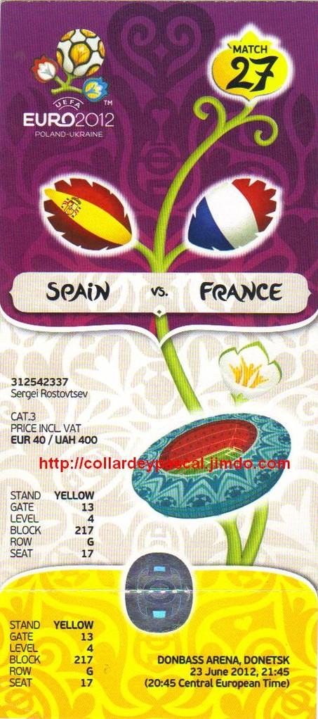 Euro 2012 : France - Espagne 1/4 Finale