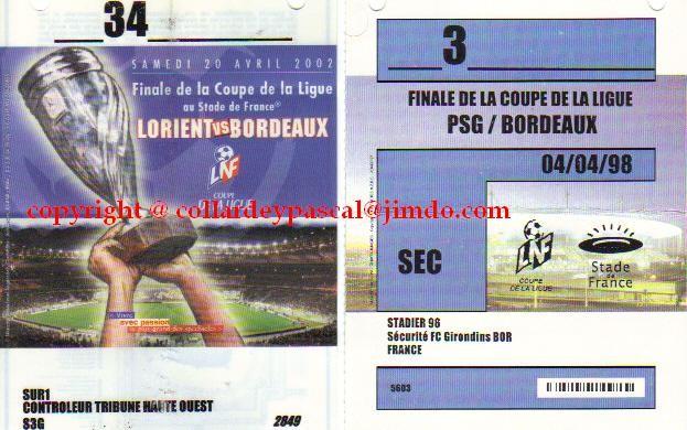 badges accés Finales des Coupes de Ligue
