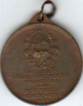 Médaille commémorative 1 ére Coupe du Monde de Football Uruguay 1930