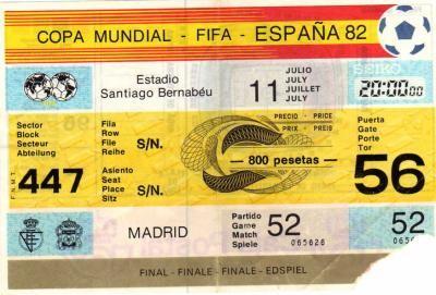 Finale Coupe du Monde 1982 : Italie - Allemagne de l'Ouest (Espagne)