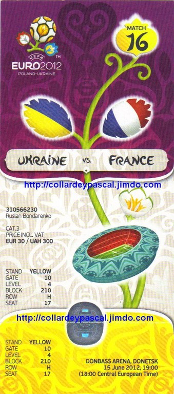 Euro 2012 : France - Ukraine
