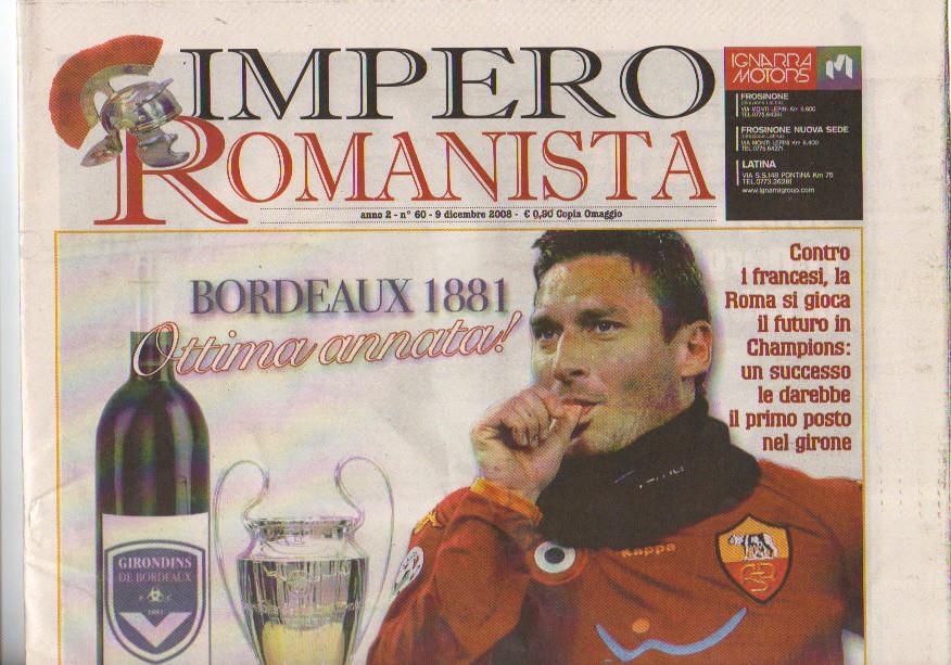 AS Roma - Girondins (Programme 2)