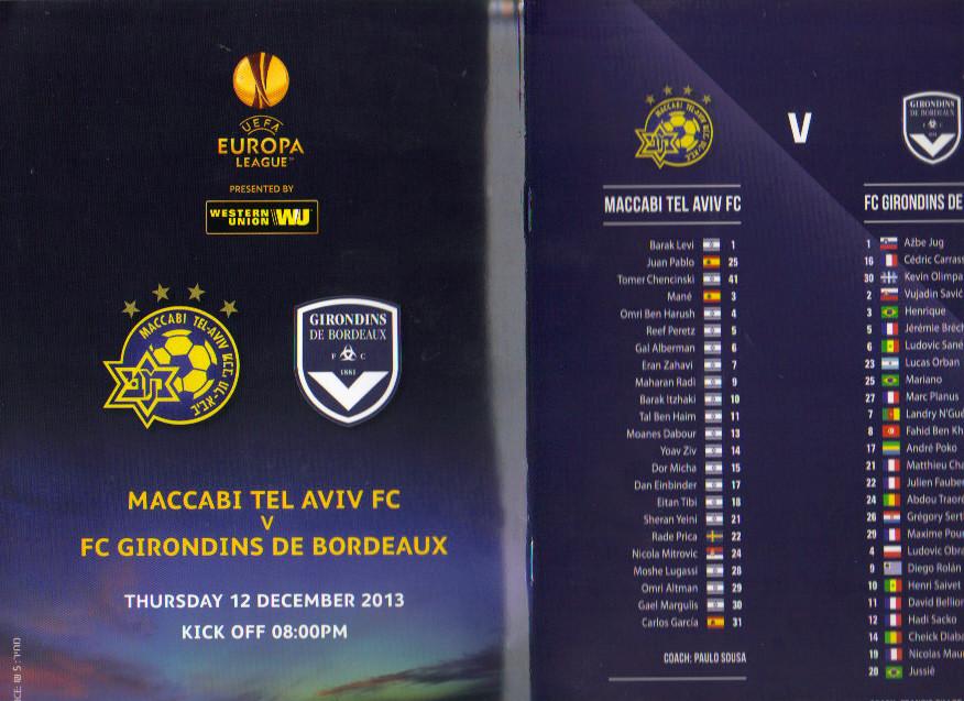 Maccabi Tel-Aviv - Girondins Ligue Europa 2013/14