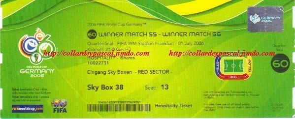 France  -  Brésil 1/4 de Finale (Allemagne 2006)