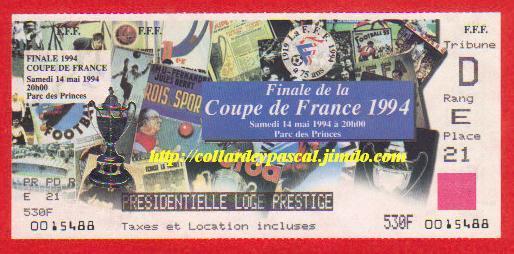 1994 : AJ Auxerre bat SC Montpellier  3 - 0