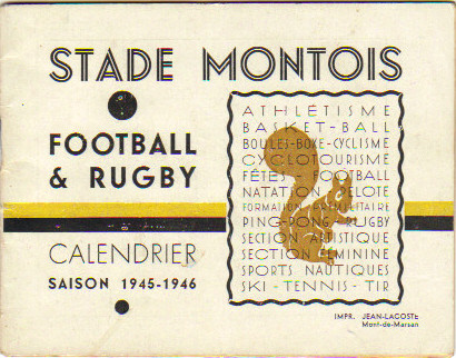 Calendrier Football Stade Montois 45/6