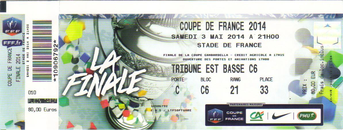 2014 : EA Guingamp bat Stade Rennais  2 - 0