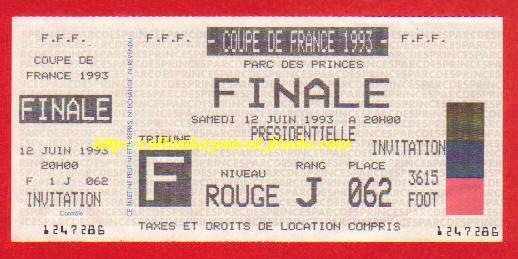 1993 : Paris SG bat FC Nantes 3 - 0