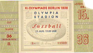 1936 Berlin : FINALE Italie - Autriche