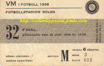 Brésil - Suéde, Finale de la Coupe du Monde 1958