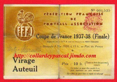 1938  Ol. Marseille bat  FC Metz 2 - 1