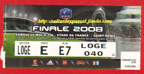 2008 : Ol. Lyon bat Paris SG 2 - 1