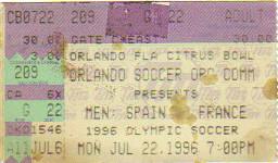 1996 Atlanta : France - Espagne