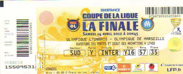 Finale 2012 O Marseille 1 - 0 Olympique Lyonnais