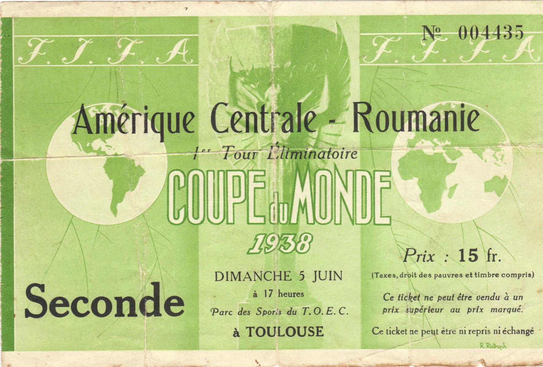 1/8 de Finale Ameriques centrale (Cuba) - Roumanie (France 1938)