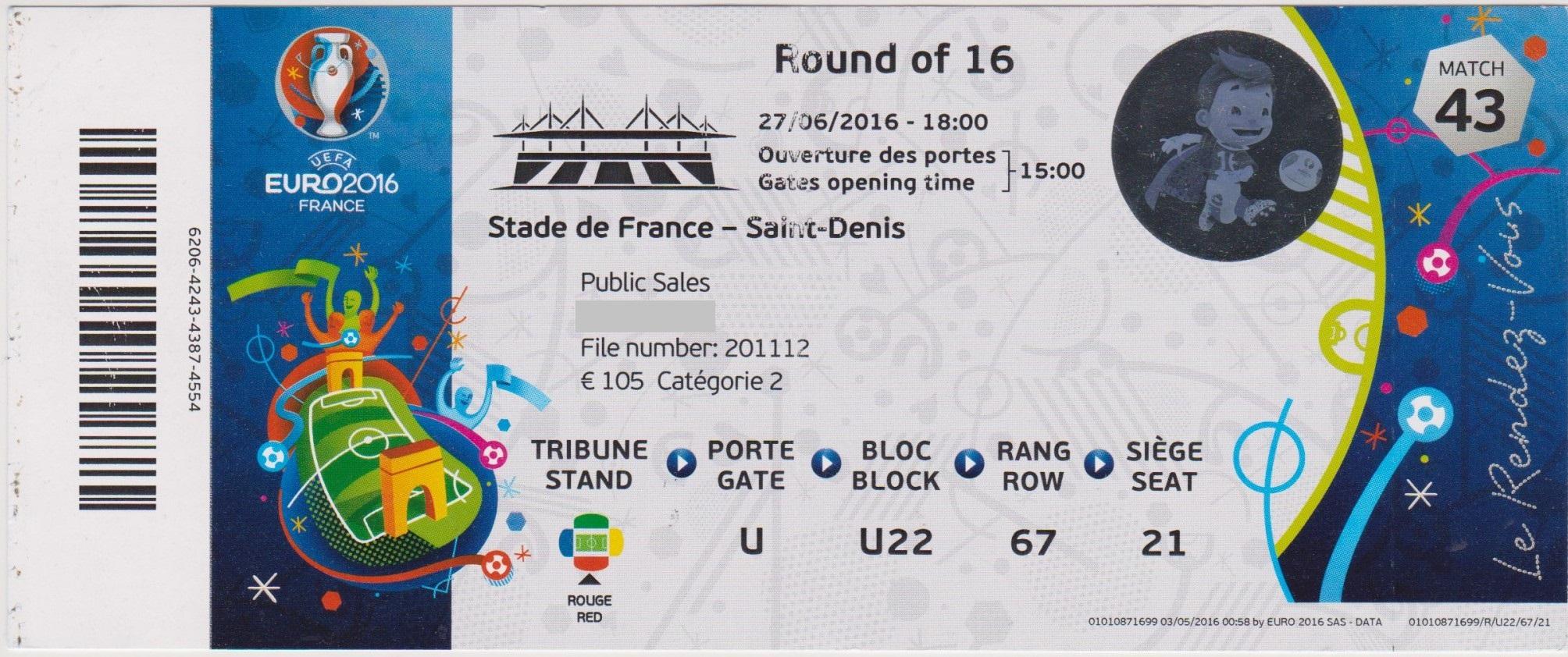 27/06/2016  St Denis :  1/8 Fin  Italie  2 - 0  Espagne  > Chiellini, Pellè (Ita) <