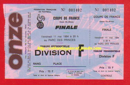 1984 : FC Metz bat AS Monaco 2 - 0