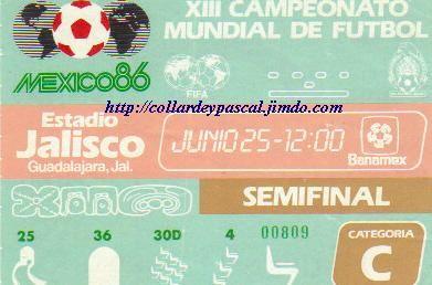 France  - Allemagne 1/2 Finale (Mexique 1986)