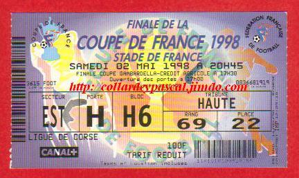 1998 : Paris SG bat RC Lens 2 - 1