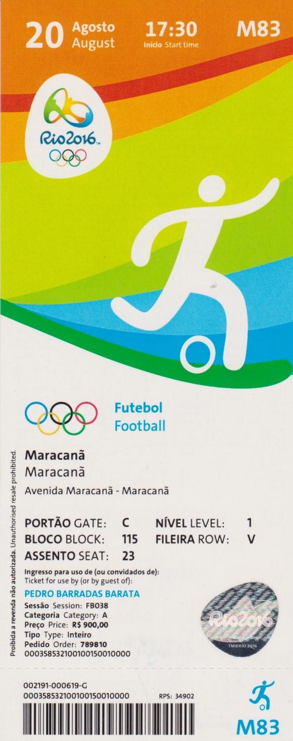 2016 Rio :  FINALE Brésil - Allemagne