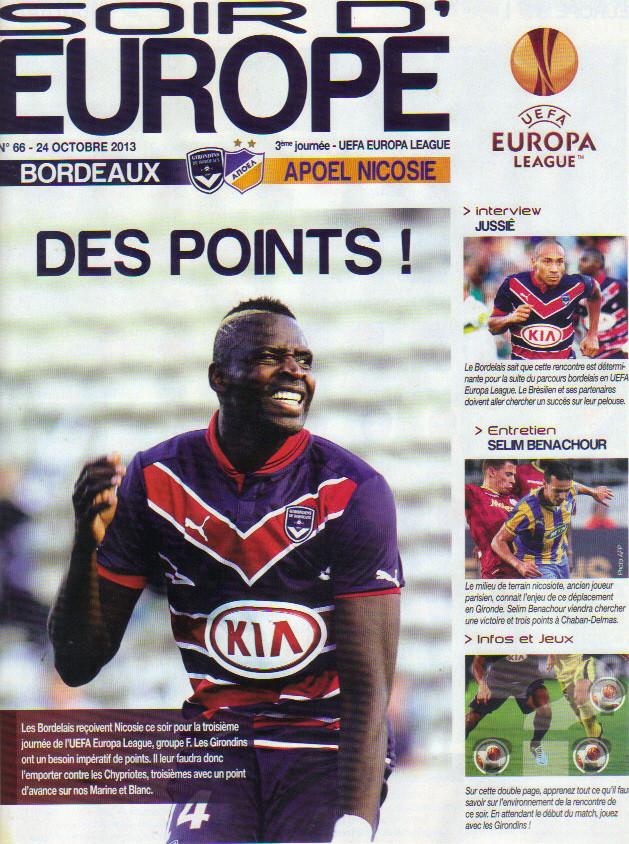 Girondins - Apoel Nicosie Ligue Europa 2013/14